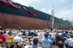 Celebrating the VLCC Anne's arrival at the Oxy Ingleside Energy Center at Port Corpus Christi
