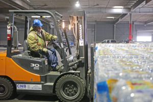 Drinking water relief support efforts at the Port of Corpus Christi