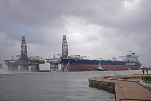 Euronav Very Large Crude Carrier VLCC Anne on the Corpus Christi Ship Channel