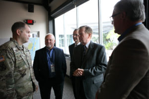Port and USACE officials