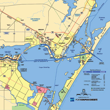 Corpus Christi Map Of Texas.Maps Port Of Corpus Christi